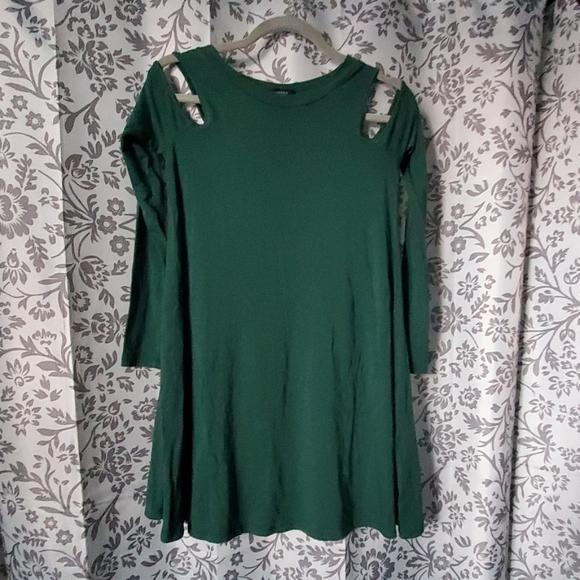 Forever 21 Dresses & Skirts - Dark green swing dress